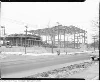 Historic photo from 1954 - Beth Tzedec Synagogue under construction in Forest Hill