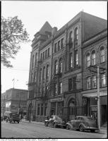 Historic photo from 1945 - Broadview Hotel, east side, at Queen St. East and Broadview Ave in Riverside-South Riverdale