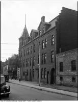 Historic photo from 1945 - Dominion Hotel - 498-500 Queen St. East, on the north west corner at Sumach St.  in Trefann Court