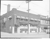 Historic photo from 1945 - Imperial Hotel - 54-58 Dundas St. E., on north-east corner of Dundas and Victoria Lane in Ryerson