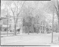Historic photo from 1945 - Isabella Hotel at 556 Sherbourne St., on the north west corner of Sherbourne and Isabella St. in Upper Jarvis