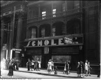 Historic photo from 1945 - Scholes Hotel - became the Colonial Tavern jazz venue - 201-203 Yonge Street in Downtown