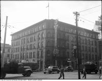 Historic photo from 1945 - Walker House Hotel on the south west corner of Front St. W. and York St. in Financial District
