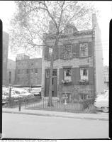 Historic photo from 1955 - MacKenzie House - Greek Revival row-house family home of William Lyon Mackenzie at 82 Bond St in Garden District