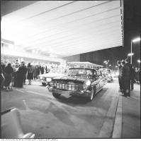 Historic photo from Saturday, October 1, 1960 - Cars lined up outside the grand opening of the Okeefe Centre in St. Lawrence