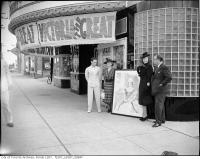 Historic photo from Tuesday, August 1, 1939 - Avenue Theatre with Anna Neagle and Herbert Wilcox out front - 331 Eglinton Aveue West in Forest Hill