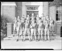 Historic photo from 1930 - Rugby team outside Dunlap Hall  - UCC in Deer Park
