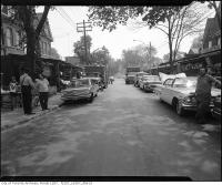 Historic photo from 1963 - Street life and cars in Kensington Market in Kensington Market