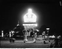 Historic photo from 1950 - Arch lit up at night, CNE grounds in CNE