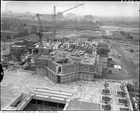 Historic photo from Sunday, June 1, 1969 - York University Library under construction (Scott Library) in York University