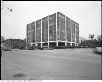 Historic photo from 1969 - Office building of Resources Engineering of Canada Ltd., Consulting Engineers, 1047 Yonge Street, at corner of Roxborough Avenue East in Rosedale
