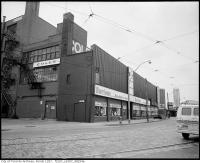 Historic photo from Friday, February 1, 1974 - Burtons Mens Clothing and Coles bookstore, 301 Yonge Street, east side, at Dundas Street East, southeast corner in Downtown