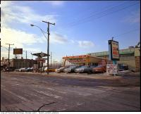 Historic photo from 1972 - Yonge Finch Plaza, Wimpys Charcoal House, Yonge-Finch carwash in Willowdale