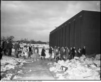 Historic photo from 1960 - Students entering the newly completed Nelson A. Boylen Secondary School in Maple Leaf