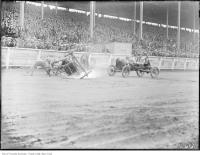 Historic photo from Saturday, August 25, 1923 - Exhibition, auto polo upset in CNE