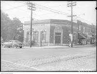 Historic photo from Tuesday, October 16, 1951 - Dominion Bank - Lawrence Park branch - scene of a holdup in Bedford Park