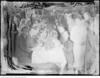 Historic photo from Thursday, December 20, 1923 - Guests and nurses at the Christie St. Hospital Christmas dinner in Davenport
