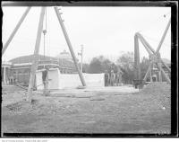 Historic photo from Friday, May 16, 1930 - Shrine peace monument, external gardens under construction in CNE