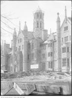 Historic photo from Saturday, April 19, 1924 - Old Trinity College, tower, Hoskin Ave. in University of Toronto (U of T)