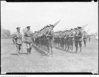 Historic photo from Tuesday, May 20, 1924 - Lieut. Col. W. A. McCrimmon, inspecting cadets at Upper Canada College in Deer Park