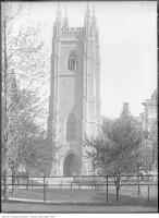 Historic photo from Sunday, June 1, 1924 - Varsity, Hart House Tower and trees in University of Toronto (U of T)