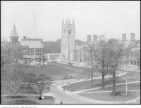 Historic photo from Sunday, June 1, 1924 - University College, Hart House and main building in University of Toronto (U of T)