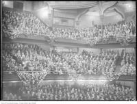 Historic photo from Friday, October 23, 1925 - Massey Hall interior during a W. L. M. King meeting in Garden District