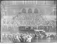 Historic photo from Monday, March 22, 1926 - Crowds outside Jarvis Collegiate to welcome Lord Allenby in Upper Jarvis