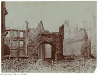 Historic photo from Wednesday, April 20, 1904 - Aftermath of the 1904 fire: Front Street West looking north just east of Queen's Hotel in Great Toronto fire of 1904