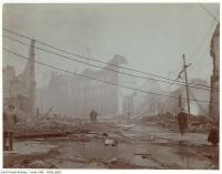Historic photo from Wednesday, April 20, 1904 - Aftermath of the 1904 fire: Front Street at Bay looking east in Great Toronto fire of 1904