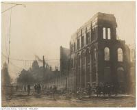 Historic photo from Wednesday, April 20, 1904 - Aftermath of the 1904 fire: Front Street west of Bay in Great Toronto fire of 1904
