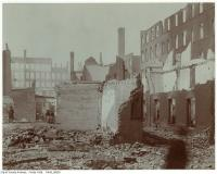 Historic photo from Wednesday, April 20, 1904 - Aftermath of the 1904 fire: The Esplanade west of Bay in Great Toronto fire of 1904