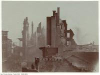 Historic photo from Wednesday, April 20, 1904 - Aftermath of the 1904 fire: Bay Street north of Wellington, looking south in Great Toronto fire of 1904