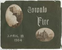 Historic photo from Wednesday, April 20, 1904 - Aftermath of the 1904 fire: album covers in Great Toronto fire of 1904