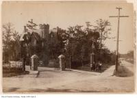 Historic photo from 1890 - Gooderham estate - North Glen Road Bridge at South Drive in Rosedale