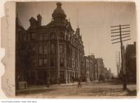 Historic photo from 1890 - Church and Adelaide streets : southwest corner in Old Town
