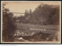 Historic photo from 1890 - Rosedale Ravine : showing the Sherbourne Street Bridge in Rosedale