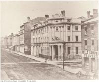 Historic photo from 1856 - Bank of British North America - designed by John Howard (Wellington and Yonge streets) in St. Lawrence