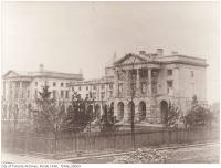 Historic photo from 1856 - Osgoode Hall : Queen Street West, north-side, before the central section was reconstructed by Cumberland and Storm in City Hall