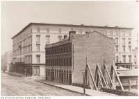 Historic photo from 1856 - Rossin House Hotel : south-east corner of King and York streets in Financial District