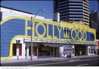 Historic photo from Sunday, June 2, 1974 - Hollywood Theatre - original details still visible on the right side of the building in Deer Park