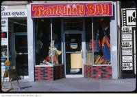 Historic photo from Tuesday, July 27, 1971 - Tranquility Bay store window - 690 Yonge Street, south of St. Mary in Yorkville