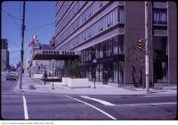 Historic photo from Wednesday, July 1, 1970 - Sutton Place hotel - driveway and entrance - Bay and Wellesley - opened 1967 in Yorkville