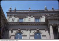 Historic photo from Wednesday, April 30, 1975 - View of window and roof details on Osgoode Hall in City Hall