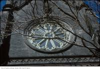 Historic photo from Wednesday, March 7, 1979 - Outside view of a rose window in St. Michaels Cathedral in Garden District