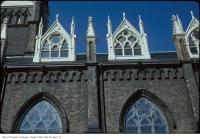 Historic photo from Wednesday, March 7, 1979 - St. Michael's Cathedral - view up to window details on the roof in Garden District