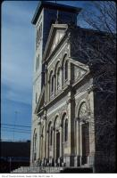 Historic photo from Friday, May 1, 1981 - St Paul's Basilica - Italianate front exterior - designed by Joseph Connolly in Corktown