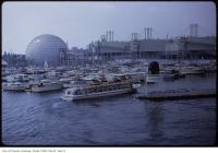 Historic photo from Saturday, July 7, 1973 - View of boats in the Ontario Place marina in Ontario Place