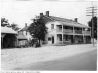 Historic photo from Saturday, July 5, 1924 - Half Way House Hotel - with two story front porch in Cliffside