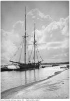 Historic photo from Tuesday, September 12, 1933 - Schooner Lyman McDavis at Sunnyside - burnt summer 1934 in Sunnyside Park